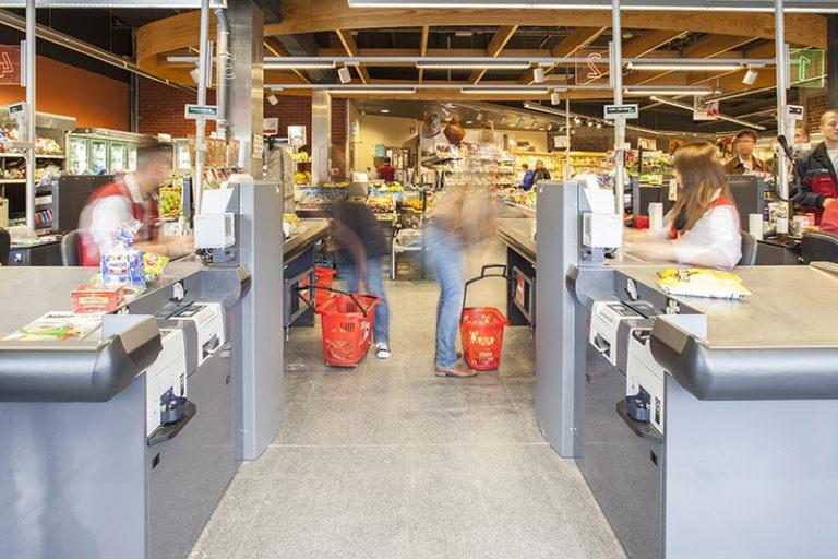 Referentie-Delhaize-Sint-Pieters-Woluwe-Antidiefstal-poortjes-ingewerkt-aan-de-kassa-hires