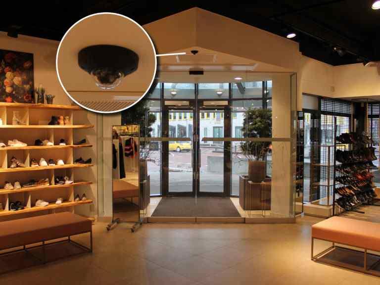 Modehuis Blok Camera Counter